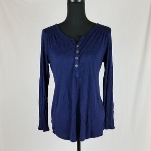 MD Faded Glory Sparkly Glitter Deep Blue Shirt